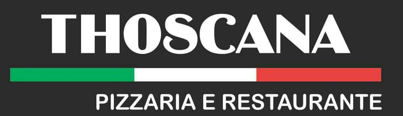 logotipo pizzaria thoscana